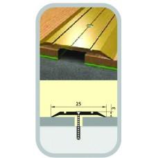 Порог узкий стык 25х900 мм темный орех
