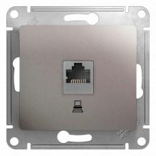 Механизм компьютерной розетки Schneider Electric Glossa GSL001281K RJ45 одноместный платина