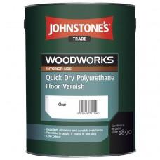 Лак полиуретановый Johnstones Quick Dry Polyurethane Floor Varnish Gloss 5 л