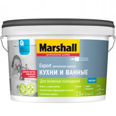 Краска для кухни и ванной Marshall Export база BW матовая 2,5 л