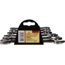 Набор ключей рожковых CS хромированных 8 шт. 6-22 мм