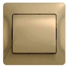 Выключатель Schneider Electric Glossa GSL000412 одноклавишный титан