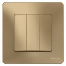 Выключатель Schneider Electric Blanca BLNVS100504 трехклавишный титан