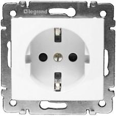 Механизм розетки Legrand Valena 774421 с заземлением и защитными шторками одноместный белый