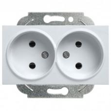 Механизм розетки Panasonic Karre Plus WKTT02042SL-RES двухместный без заземления серебро