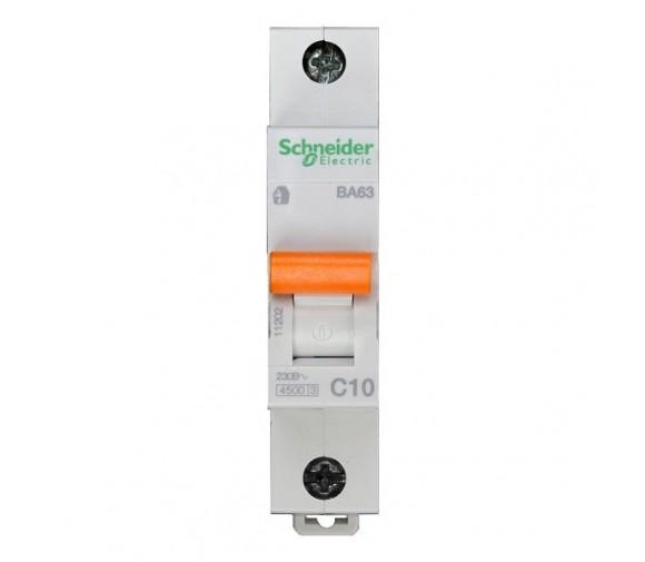 Автоматический выключатель Schneider Electric Домовой ВА63 1П C 10A 4,5кА