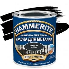 Краска по ржавчине Hammerite гладкая глянцевая черная 5 л