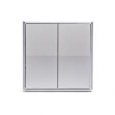Gritt Elegance B180100S двухклавишный серый металлик