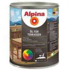 Масло для террас Alpina шелковисто-глянцевое прозрачное 0,75 л