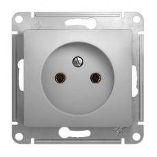 Механизм розетки Schneider Electric Glossa GSL000341 одноместный без заземления алюминий
