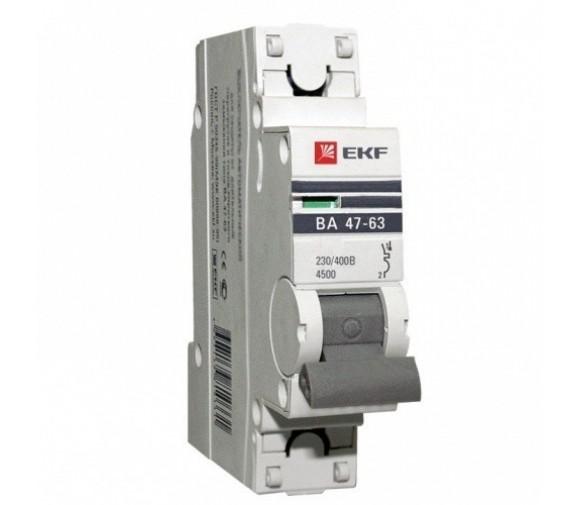 Автоматический выключатель EKF Proxima ВА 47-63 1P 4,5 кА 6А С