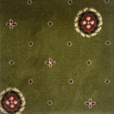 Ковролин Ковротекс Виктория Кружок 02-6003 зеленый 4 м резка