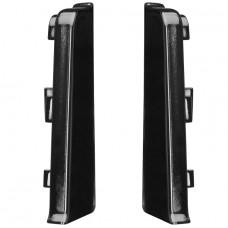 Заглушка для плинтуса ПВХ Arbiton Indo 18 Черный блеск левая и правая 2 штуки
