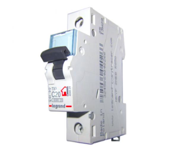 Автоматический выключатель Legrand TX3 404029 C 1Р 20А