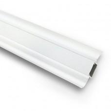 Плинтус ПВХ Ideal Комфорт К55 001 белый 2500х55х22 мм