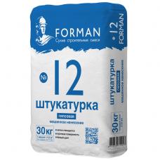 Штукатурка гипсовая Forman 12 белая для машинного нанесения без шпатлевания 30 кг