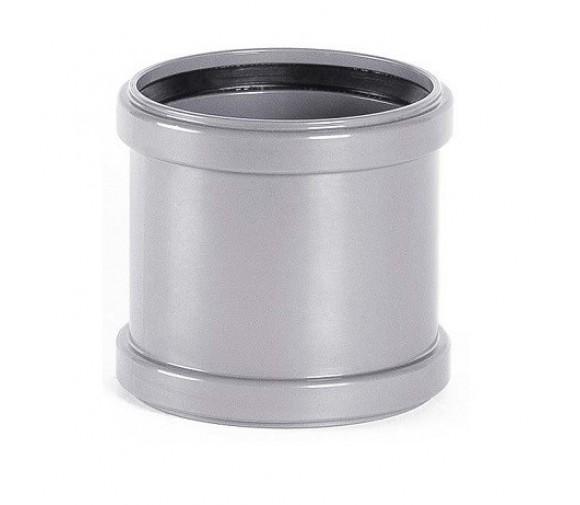 Муфта соединительная ПВХ Хемкор Ду 110 мм равнопроходная с кольцом