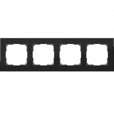 Рамка четырехместная Werkel Aluminium WL11-Frame-04 черный алюминий