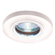 Светильник точечный встраиваемый Italmac Bohemia LED 51 8 75 MR16 с подсветкой молочно-белый 50 Вт