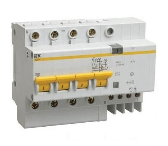 Автоматический выключатель дифференциального тока IEK АД14 4Р 50А 30мА