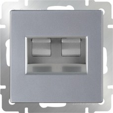 Werkel Ethernet WL06-RJ45+RJ45 двойной серебряный