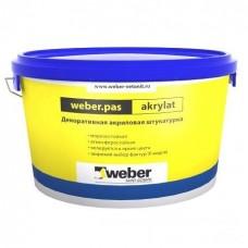 Штукатурка акриловая декоративная Weber.Pas Akrylat Короед 2 мм белая 25 кг