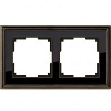 Рамка двухместная Werkel Snabb Basic WL03-Frame-02 серо-коричневая