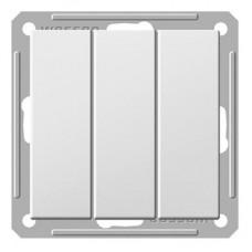 Механизм выключателя Schneider Electric W59 VS0516-351-1-86 трехклавишный белый