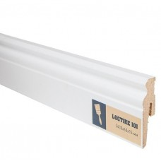 Плинтус МДФ под покраску Arbiton Loctike 101 МР0601 белый 2400х60х15 мм