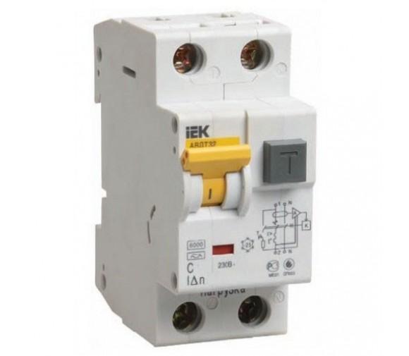 Автоматический выключатель дифференциального тока IEK АВДТ 32 C16 30мА
