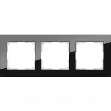 Рамка трехместная Werkel Favorit WL01-Frame-03 черная