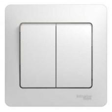 Выключатель Schneider Electric Glossa GSL000152 двухклавишный белый