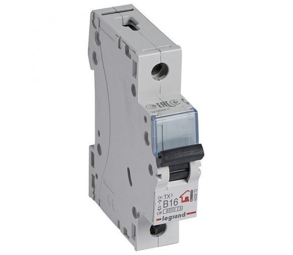 Автоматический выключатель Legrand TX3 403972 1P B 16A 6кА