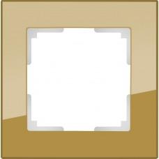 Рамка одноместная Werkel Favorit WL01-Frame-01 бронзовая