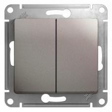 Механизм выключателя Schneider Electric Glossa GSL001251 двухклавишный платина