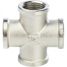 Крестовина Stout SFT-0031-000012 1/2 дюйма никелированная с внутренней резьбой