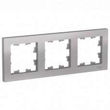 Рамка трехместная Schneider Electric AtlasDesign ATN000303 алюминий