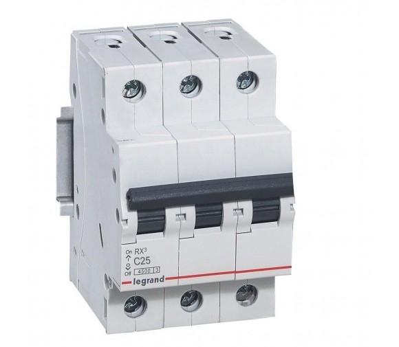 Автоматический выключатель Legrand RX3 419710 3P C 25A 4,5 кА