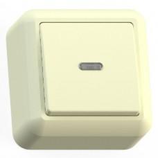 Выключатель Кунцево-Электро Оптима А110-386 одноклавишный с подсветкой Слоновая кость