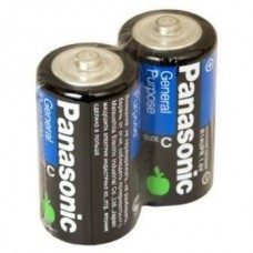 Батарейка солевая Panasonic C R14 SR2 2 шт