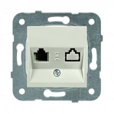 Механизм розетки телефонной Panasonic Karre Plus WKTT04022BR-RES RJ11 двухместный бронза