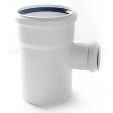 Тройник канализационный RAU-PP Rehau Raupiano Plus 110х50х110 мм 87 градусов белый