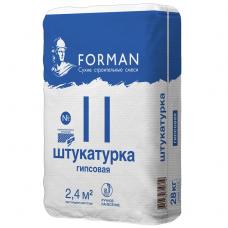 Штукатурка гипсовая Forman 11 белая для ручного нанесения 28 кг