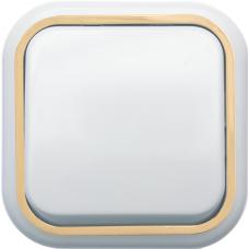 Выключатель Кунцево-Электро Валентина А16-038(З) одноклавишный белый с золотом