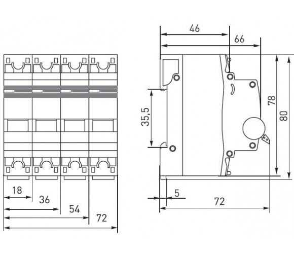 Автоматический выключатель EKF Proxima ВА 47-63 1P 4,5 кА 20А С