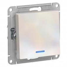 Механизм выключателя Schneider Electric AtlasDesign ATN000413 одноклавишный с индикатором жемчуг
