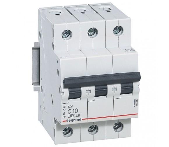 Автоматический выключатель Legrand RX3 419706 3P C 10A 4,5 кА