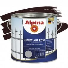 Alpina Direkt auf Rost гладкая RAL 8017 шоколадная 0,75 л