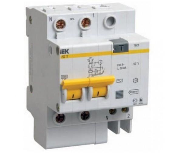 Автоматический выключатель дифференциального тока IEK АД12 2Р 63А 30мА