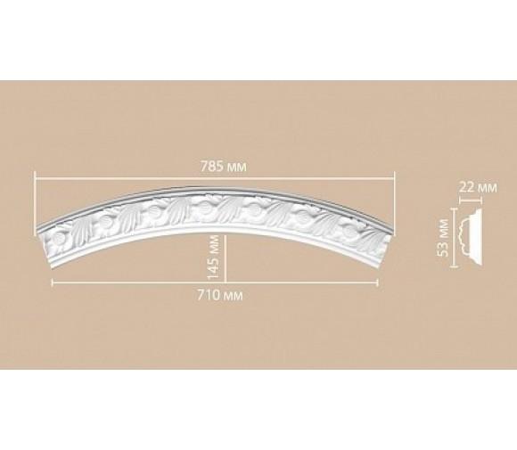 Молдинг-радиус полиуретановый Decomaster 898102-100 1/4 круга
